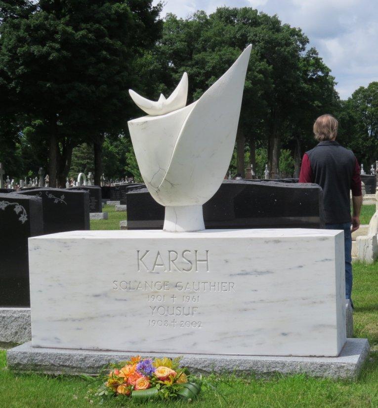 Yousuf KARSH, photographer, grave marker