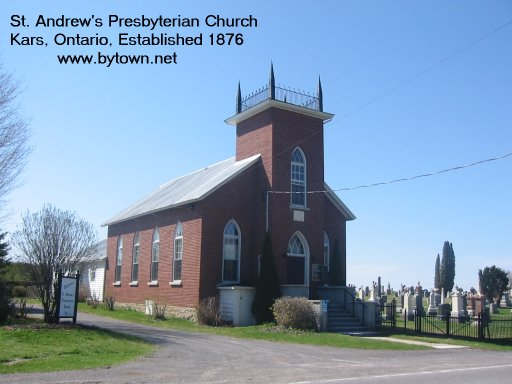 St. Andrews Presbyterian Church at Kars, Ontario, Canada
