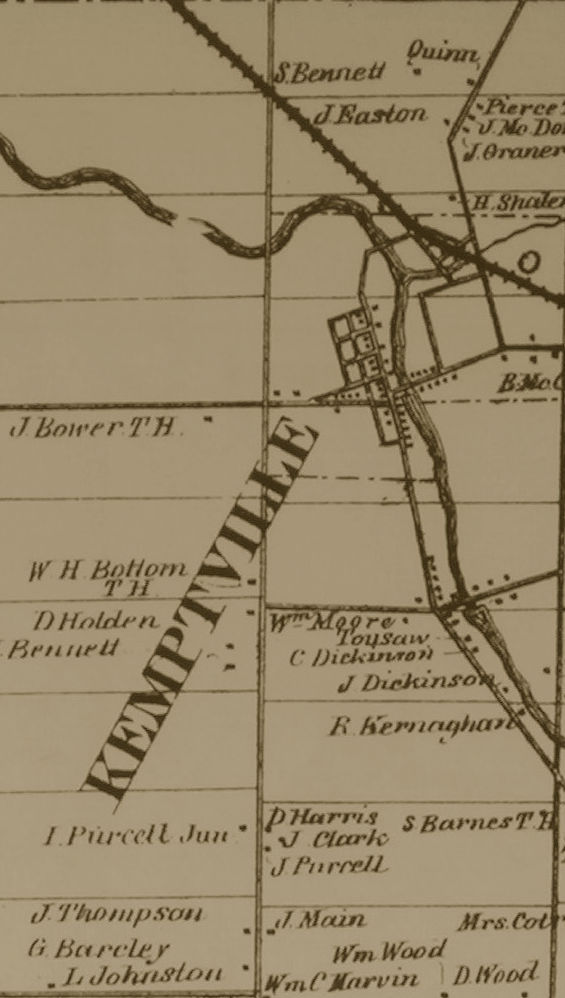 Kemptville, Ontario, map in 1879