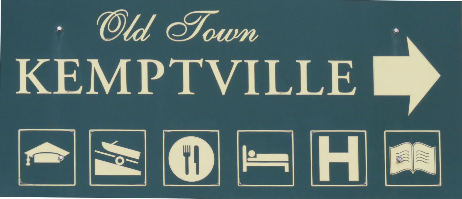Sign for Kemptville, Ontario, Canada
