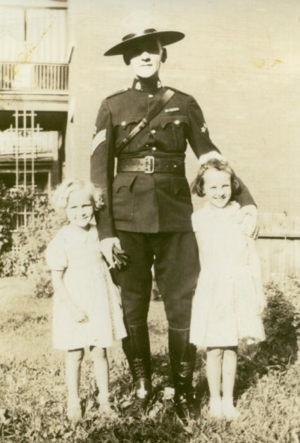 John Kidd of the RCMP, and his daughters