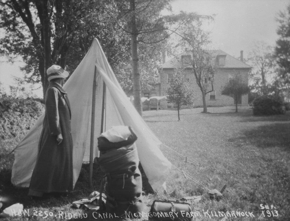 Camping at Montgomery Farm, Kilmarnock, Ontario, Canada, 1913