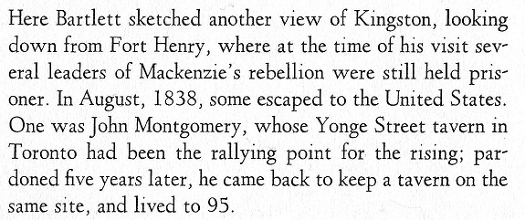 Kingston from Fort Henry text