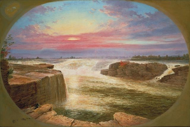 Cornelius Krieghoff painting of Chaudiere Falls, 1858