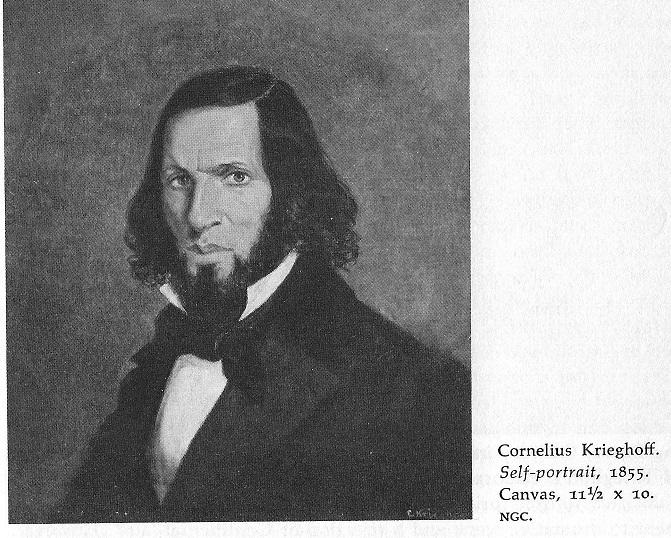 Cornelius Krieghoff Self-portrait
