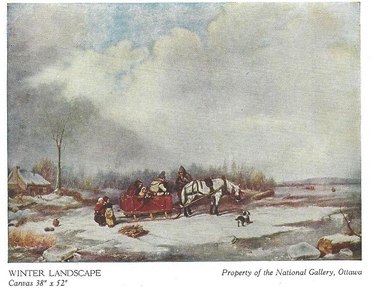 Winter Landscape painted by Krieghoff