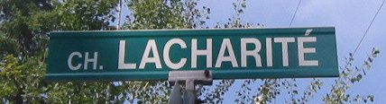 Picture of Lacharity Road Sign