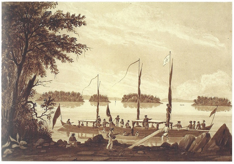 Painting by Young at Lachine Canal, c. 1825, Dalhousie Trip