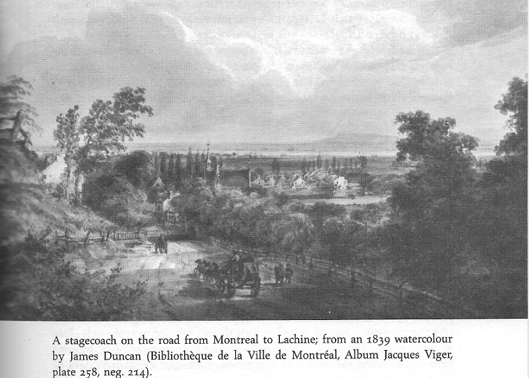 Montreal to Lachine Stage Coach, 1839 painting