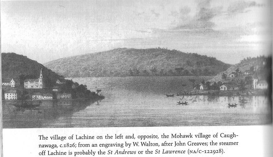 Lachine Village and Caugnawaga, c. 1826