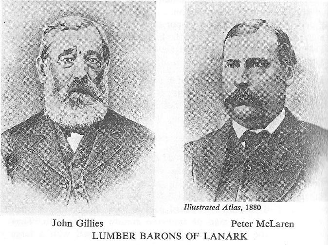 John Gillies and Peter McLaren. Lumber Barons in Lanark County