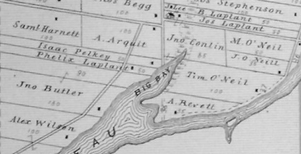 Laplante Family farms in 1879 in North Gower Township