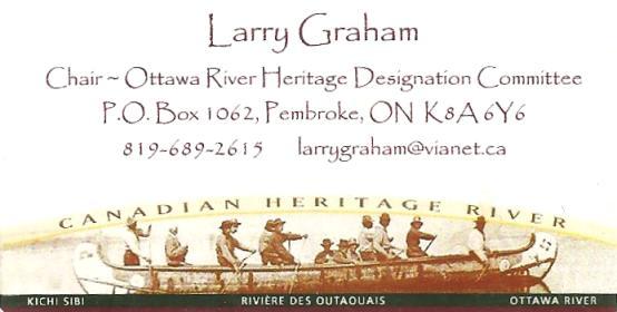Ottawa River Heritage Designation Committee (Larry Graham)