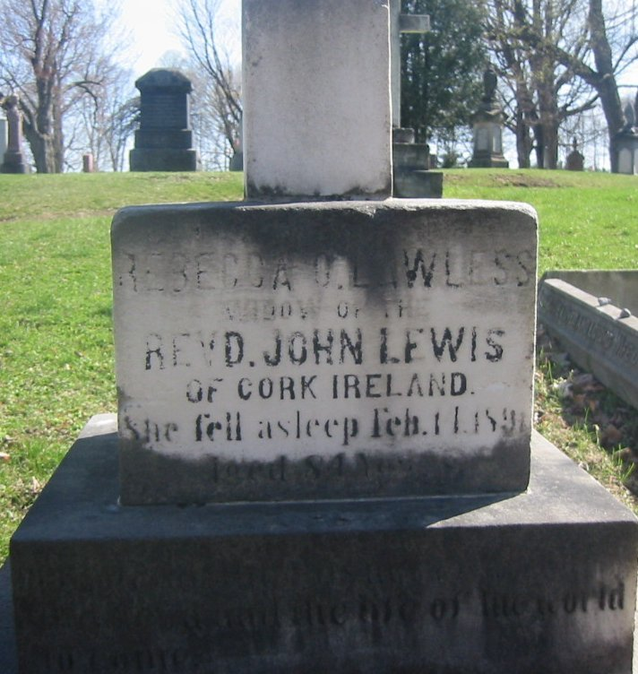 Grave Marker of Rebecca Lawless