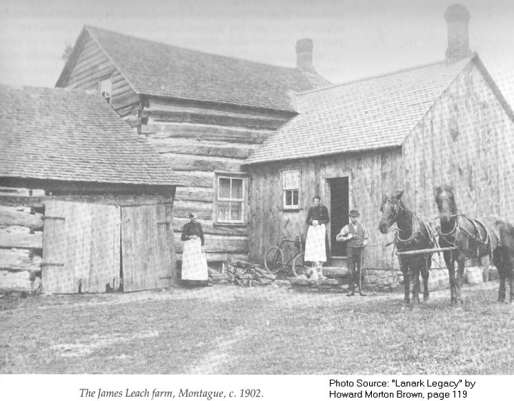 The James Leach Farm in Montague Township, Ontario, Canada in 1902