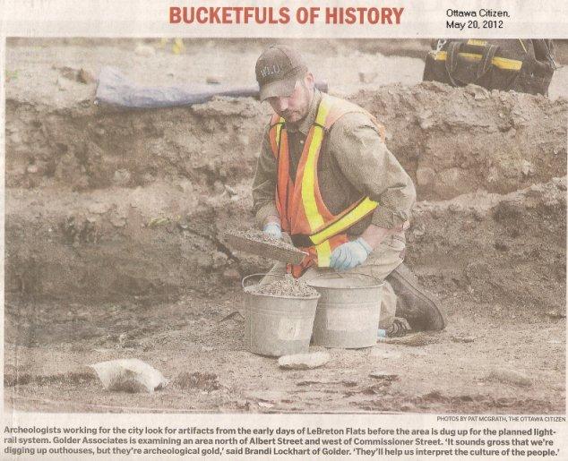 Archaeological Dig at Lebreton Flats, Ottawa, Ontario, Canada