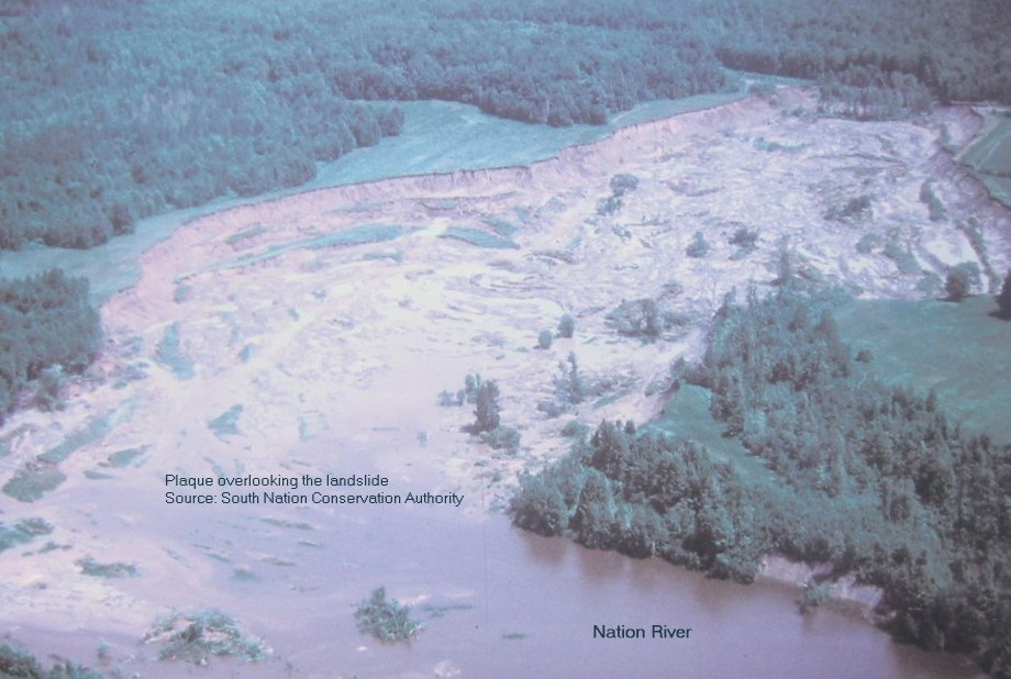 Lemieux, Ontario, Canada - Landslide