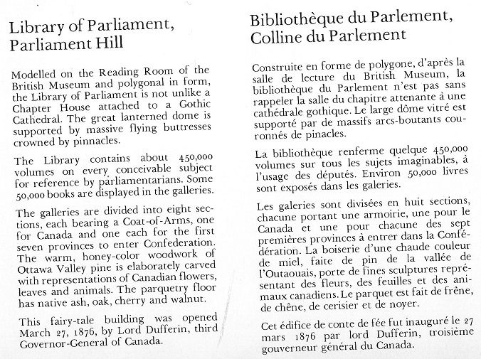 Library of Parliament, text