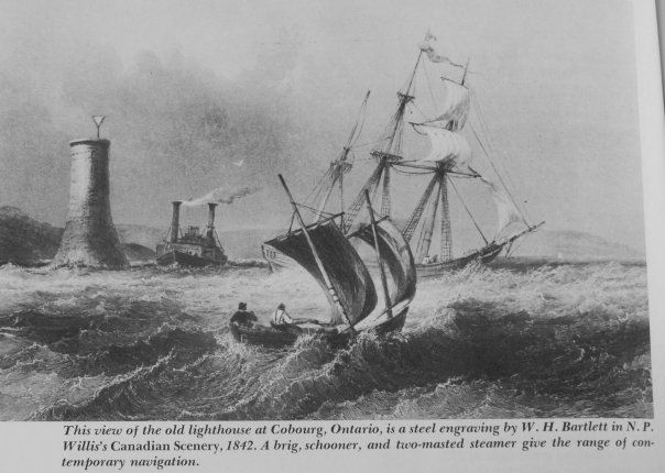Lighthouse at Cobourg, Ontario, Canada, 1842