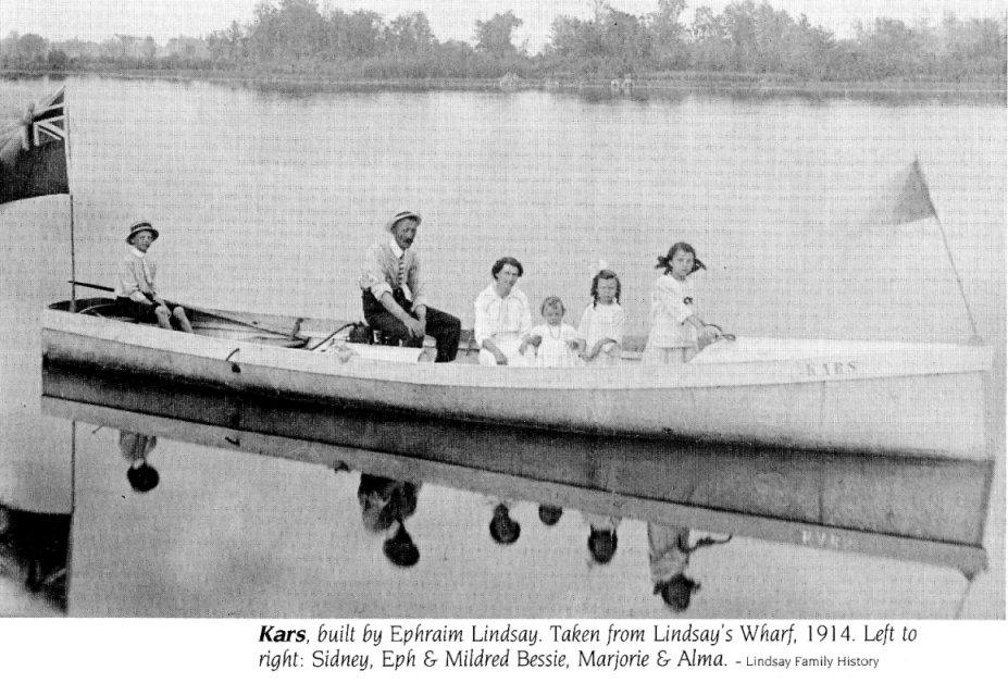 Lindsay family sloop, 1914