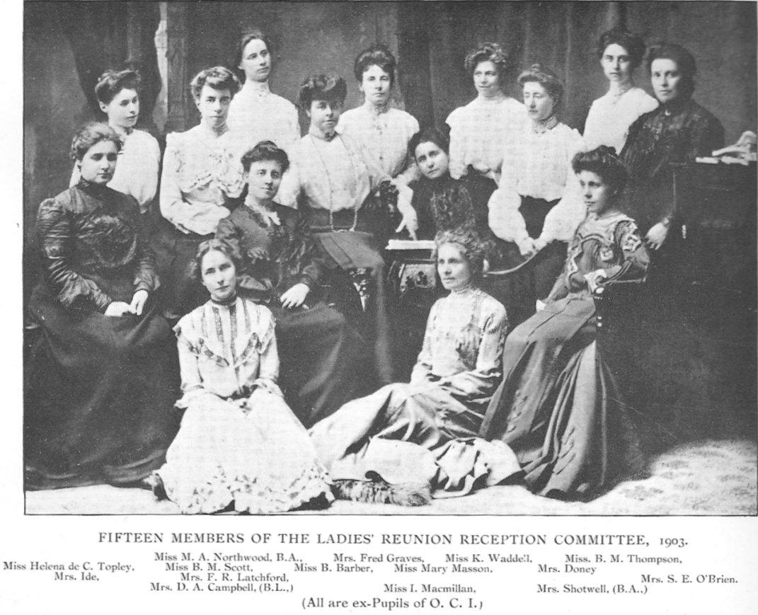 Lisgar Collegiate Ladies Reunion Committee, 1903