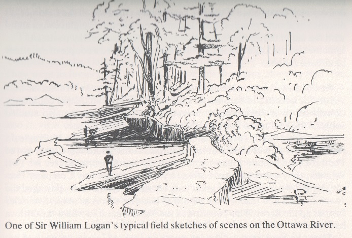 A sketch by William E. Logan while working in the field