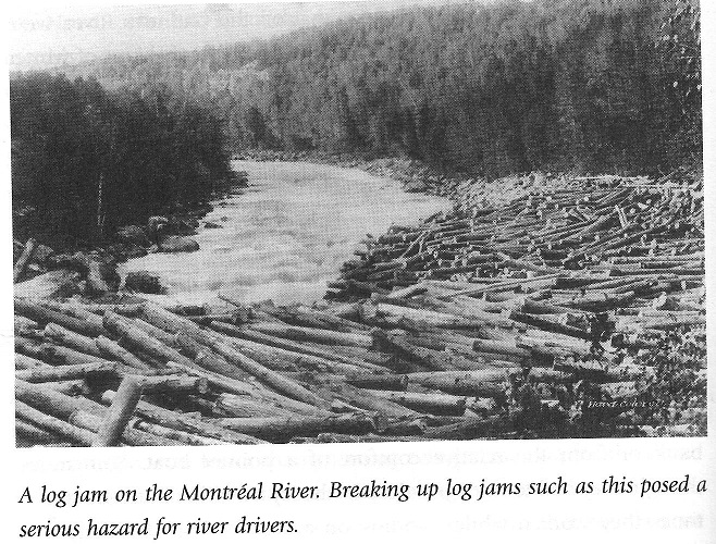 Logging Jam on the Montreal River