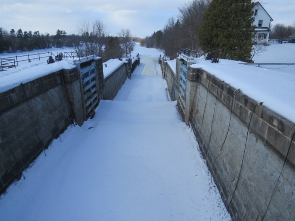 Long Island Locks in Winter, Rideau Canal System, Ottawa, Canada
