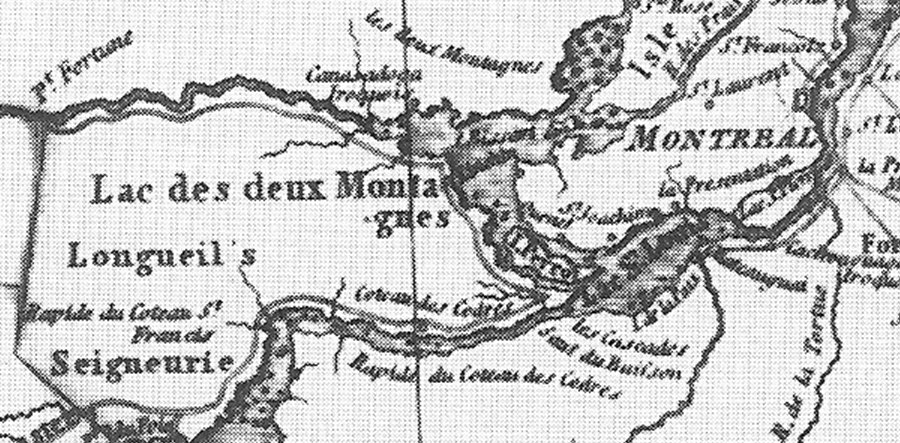 Map of the Seignory / Township of Longueiul, Canada, in 1813