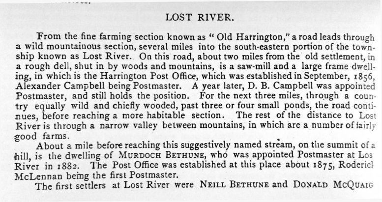 Lost River, Argenteuil County, Quebec, Canada in 1896