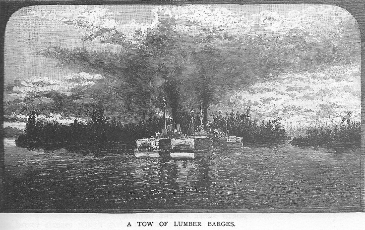 Log Barges on the Ottawa River