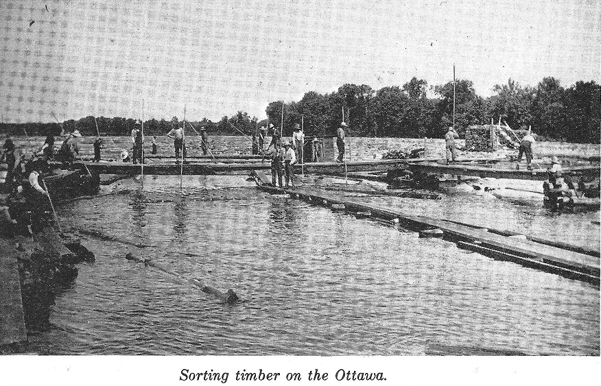 Sorting Timber on the Ottawa River