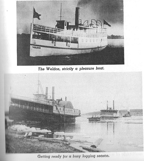 Steam Boat used in the lumbering industry
