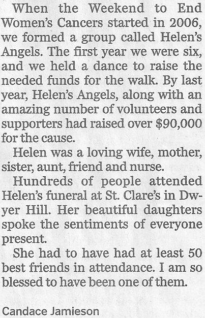 Helen Lyng, Dwyer Hill, Ontario, Canada