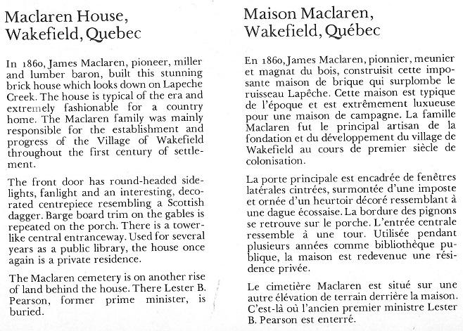 Maclaren House text