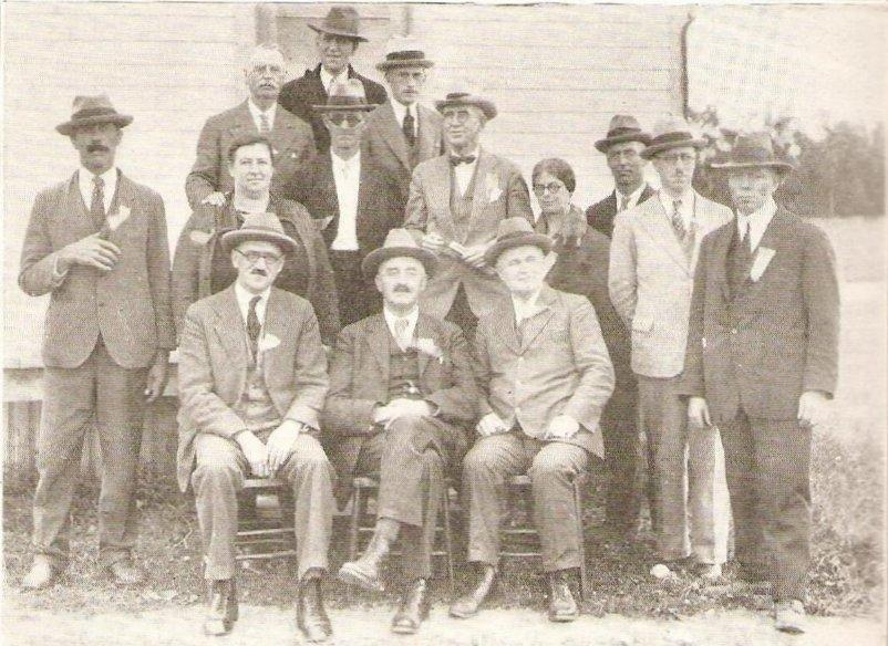 Men at Maniwaki, Quebec, c. 1920