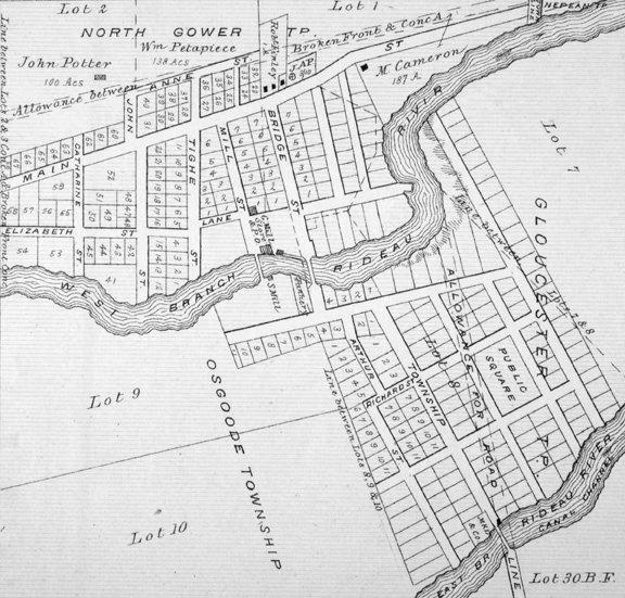 Manotick Village in 1879