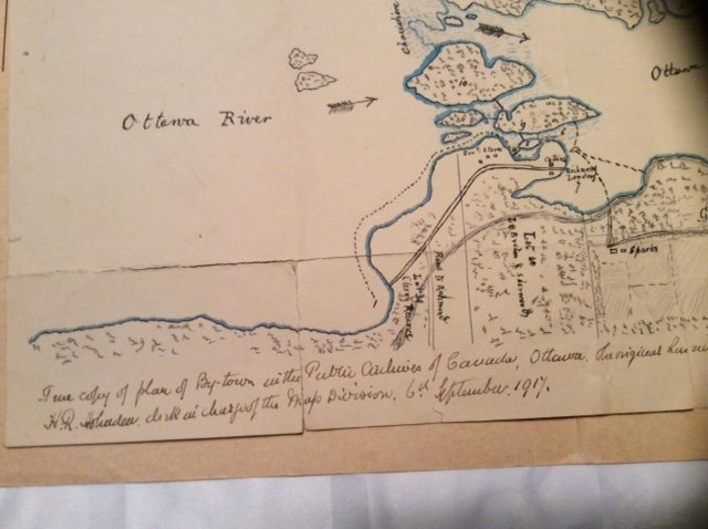 Map before Bytown, Canada was created (1)