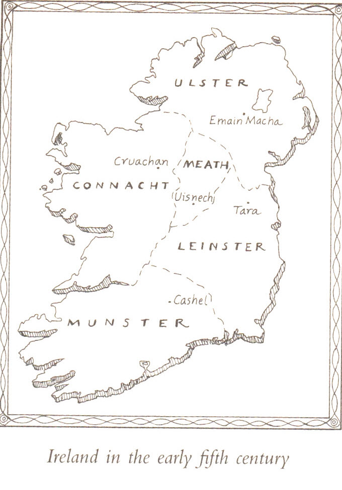 Map of Ireland in the 5th Century A.D. - when St. Patrick arrived