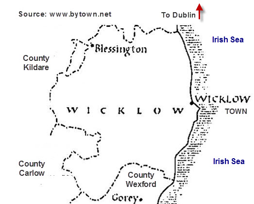 Map of County Wicklow in 1848