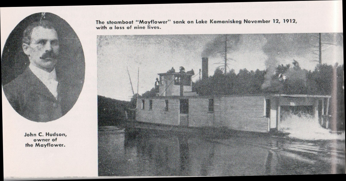 The Mayflower on Kamaniskeg Lake Pic 1912