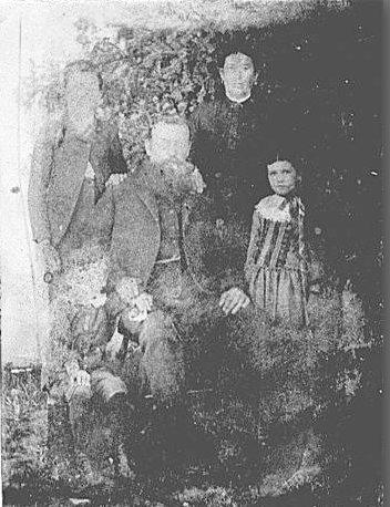Michael & Ellen McClemens and children, James, Michael and Ellen, c. 1886