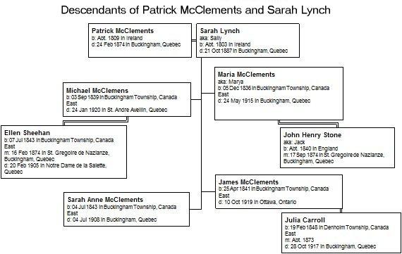 Patrick McClements and Sarah Lynch descendants
