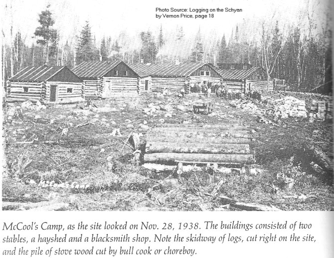 McCool Lumber Camp, Schyan River, Quebec, Canada