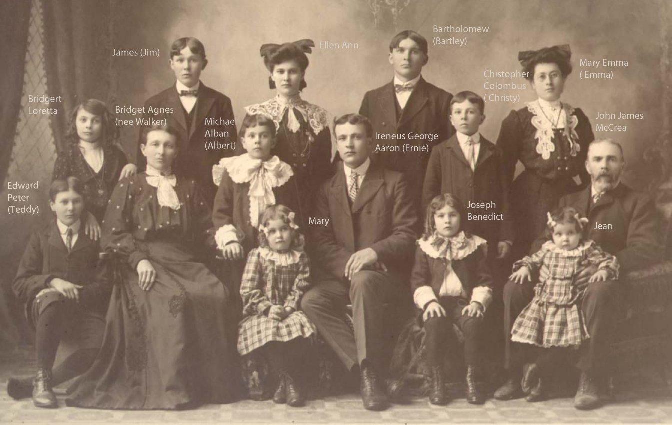 McCrea Family Portrait, Pembroke, Ontario, Canada, c. 1898