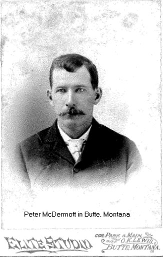 Photograph of Peter McDermott in Butte, Montana, USA