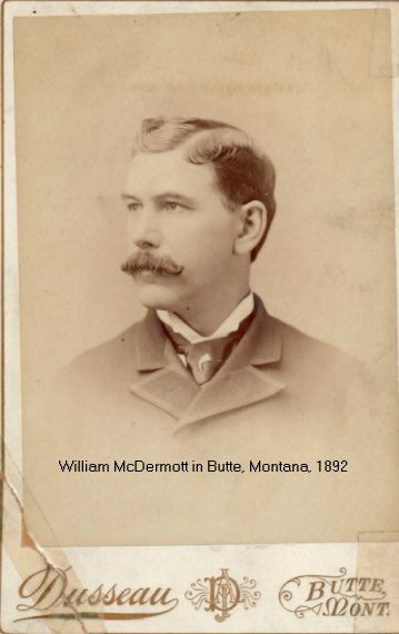 Photograph of William McDermott in Butte, Montana, USA