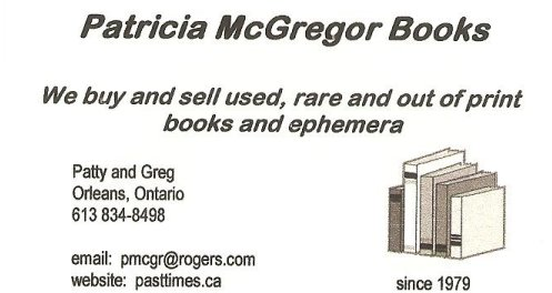 Patricia McGregor Books, Business Card
