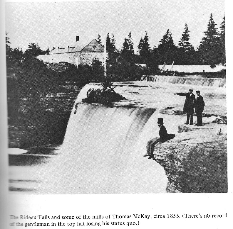 Rideau Falls, man with top hat