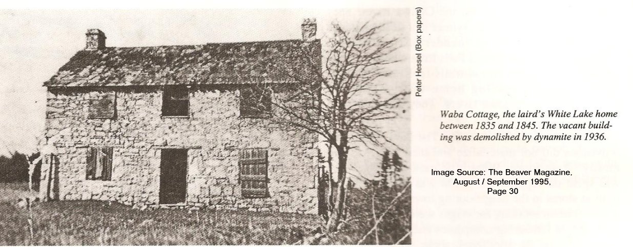 Laird of McNab's original stone cottage in McNab Township, Ontario, Canada